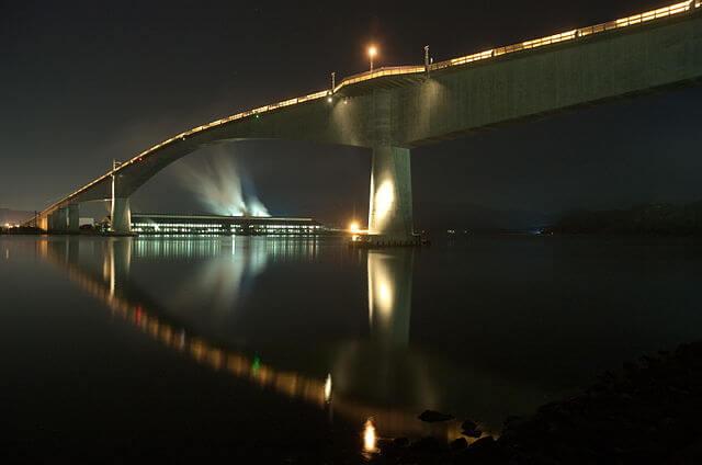 Eshima ohashi bridge at night