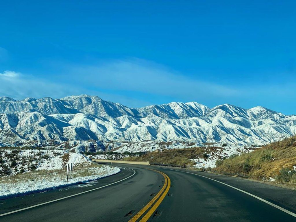 Cajon Pass road in California, USA.