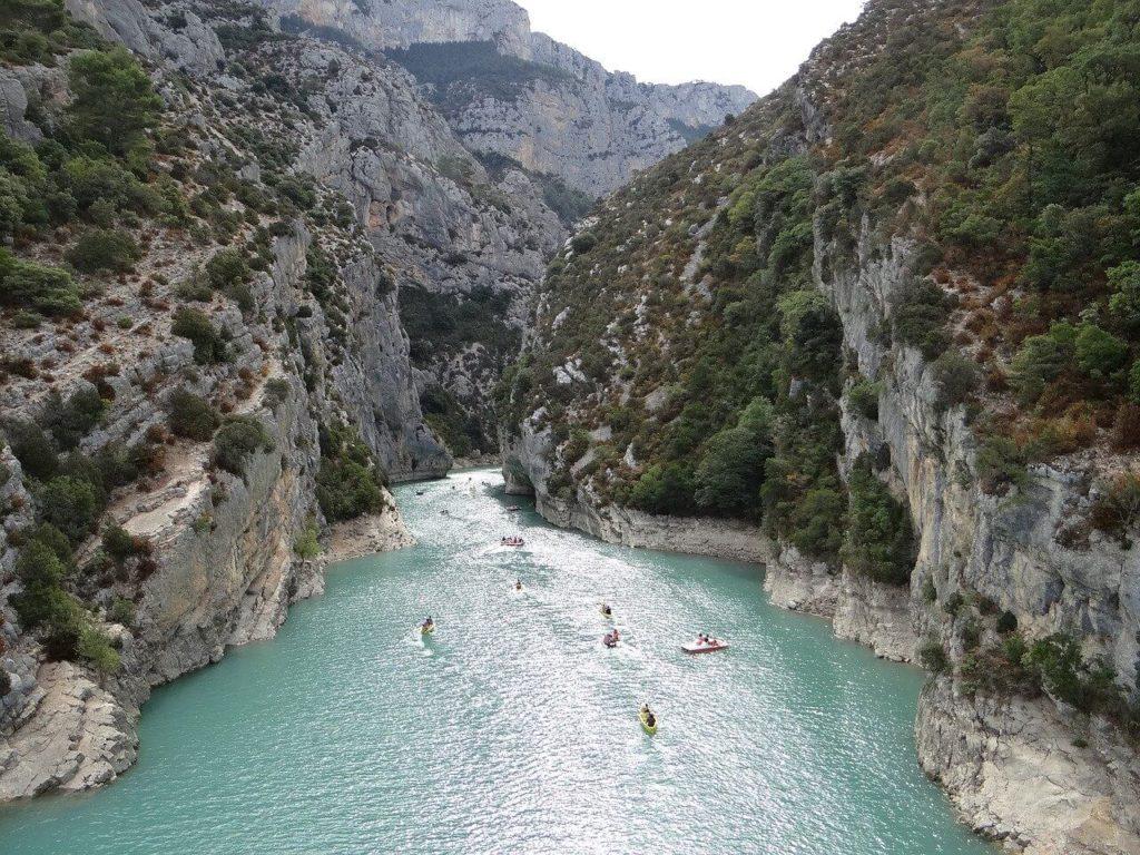 Kayaking in Verdon Gorge.