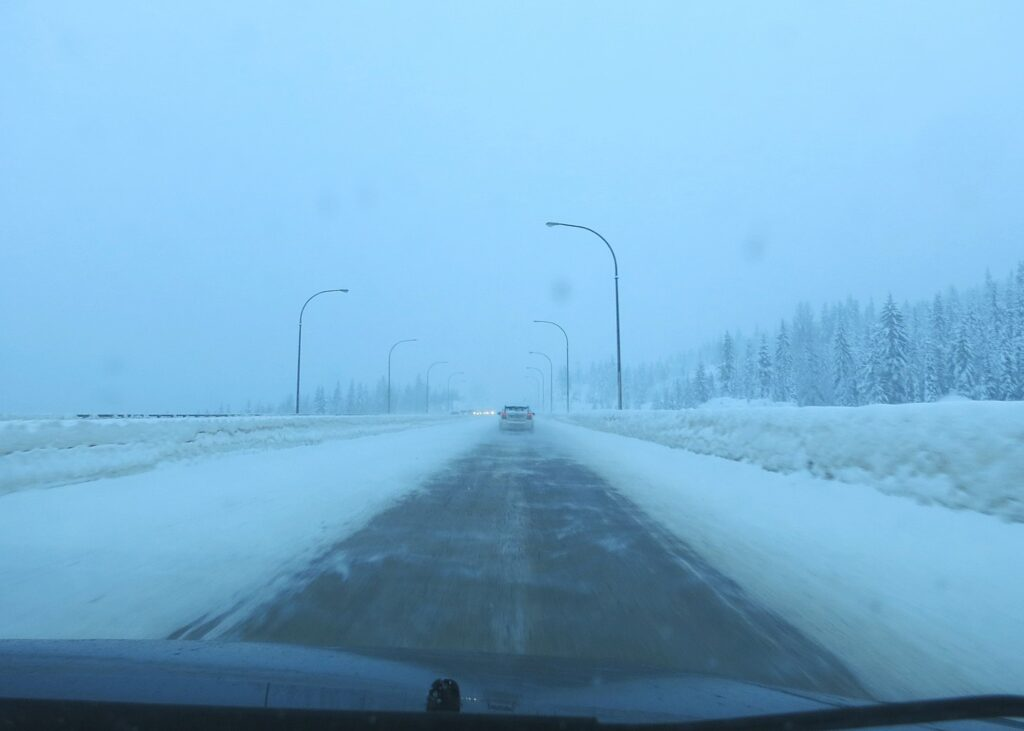 Winter condition on Coquihalla Highway