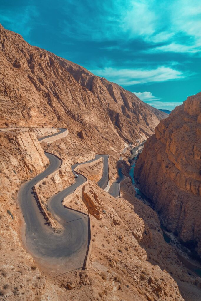 Tizi n'Tichka is a famous mountain pass in in Morocco