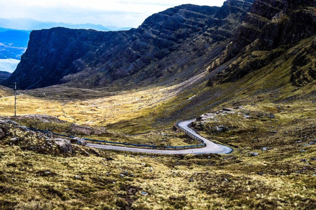 Bealach na Ba road in Scotland