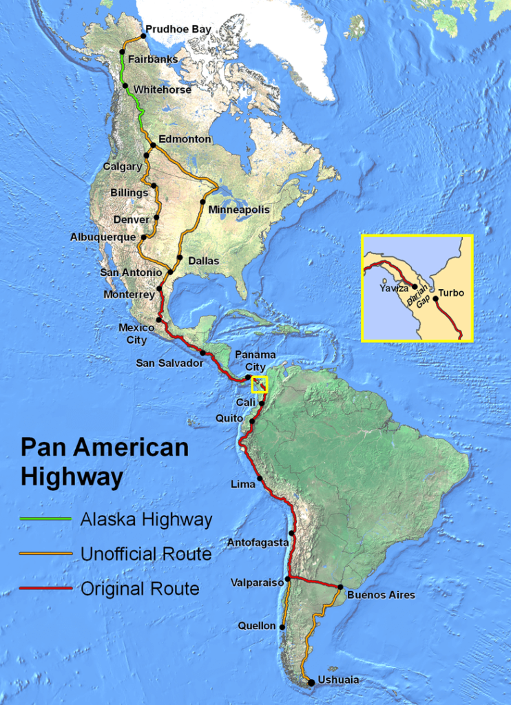 The Pan american road is one the longest road in the world
