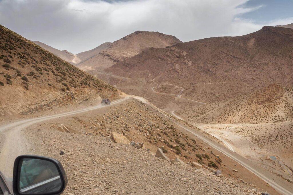 Tizi n'Ait Imi mountain pass road.