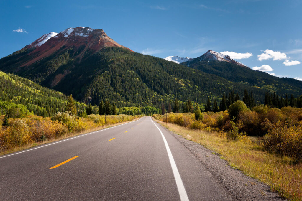 Million Dollar Highway in Colorado a perfect road trip in USA