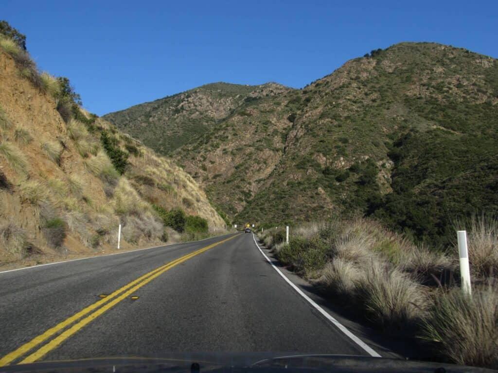 Ortega Highway route