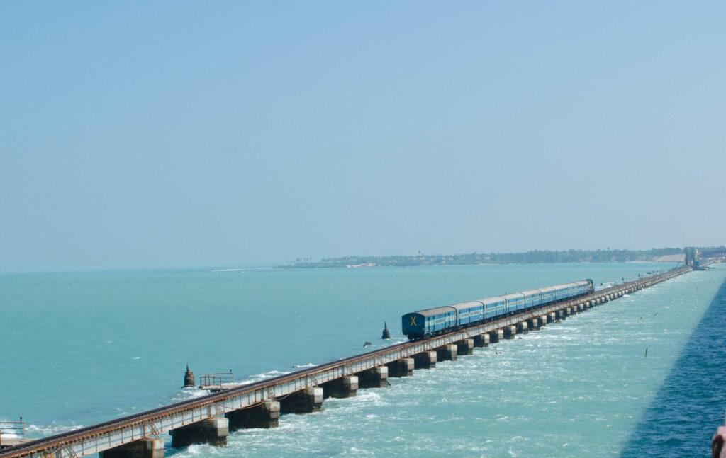 Pamban bridge railroad