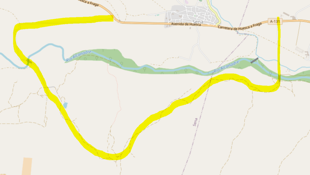 Map of the Jubierre Route drive