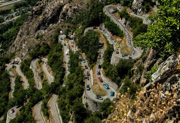 bicycle race at lacets de Montvernier