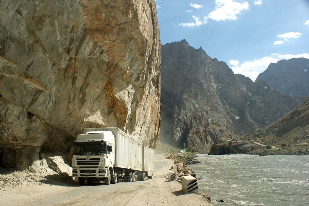 A truck on the pamir highway