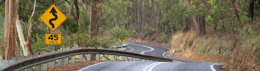 bicycle Corkscrew Road in Australia