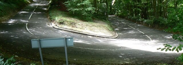 zig zag road in england
