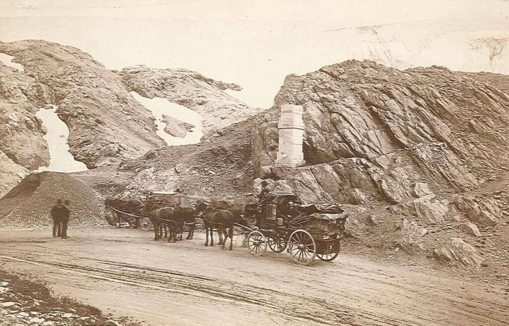 Stelvio Pass historic picture